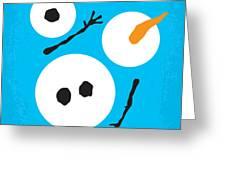 No396 My Frozen Minimal Movie Poster Greeting Card by Chungkong Art