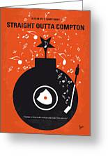 No422 My Straight Outta Compton Minimal Movie Poster Greeting Card