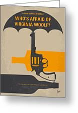 No426 My Whos Afraid Of Virginia Woolf Minimal Movie Poster Greeting Card