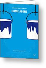 No427 My Home Alone Minimal Movie Poster Greeting Card