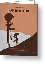 No428 My Hamburger Hill Minimal Movie Poster Greeting Card