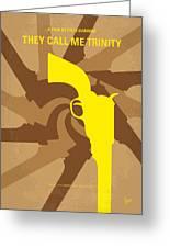 No431 My They Call Me Trinity Minimal Movie Poster Greeting Card