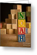 Noah - Alphabet Blocks Greeting Card