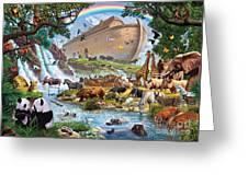 Noahs Ark - The Homecoming Greeting Card by Steve Crisp