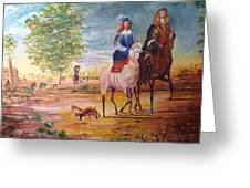 Nobel  Knight And Lady Greeting Card
