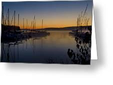 Nockamixon Marina At Dawn Greeting Card