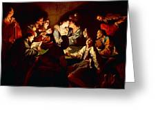 Nocturnal Concert Greeting Card by Jean  Leclerc