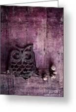 Nocturnal In Pink Greeting Card by Priska Wettstein