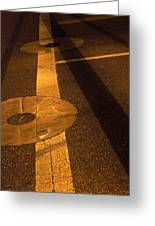 Nocturnal Street Shadows Greeting Card
