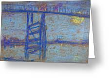 Nocturne. Battersea Bridge Greeting Card