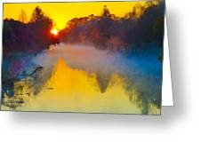 Noel Sur Le Bayou Teche Brouillard Greeting Card