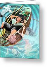 Nogood Boyo The Layabout Dreaming His Dreams, 2005 Acrylic On Panel Greeting Card