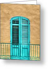 Nola Balcony Greeting Card
