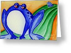 Nonchalant Frog Greeting Card