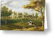 Nonsuch Palace In The Time Of King Greeting Card