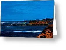 Nor Cal Seascape Greeting Card