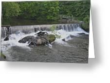 Nora Mill Dam - Chattahoochee River Greeting Card