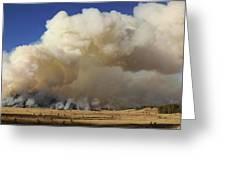 Norbeck Prescribed Fire Smoke Column Greeting Card
