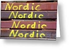 Nordic Rusty Steel Greeting Card