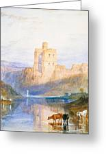 Norham Castle An Illustration To Marmion By Sir Walter Scott Greeting Card