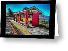 Norm Laknes Train Station Greeting Card