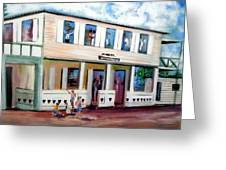 Normandie Bar St Thomas Greeting Card