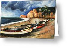 Normandy Coast - Landscape Oil Greeting Card