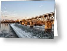 Norristown Dam And Railroad Bridge Greeting Card