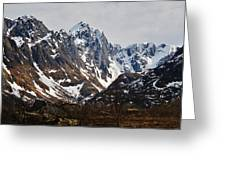 Norse Spring Mountains Greeting Card