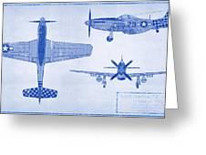 North American P-51d Mustang Greeting Card