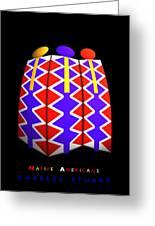 North American Pattern Greeting Card