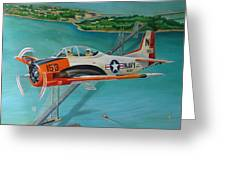 North American T-28 Trainer Greeting Card
