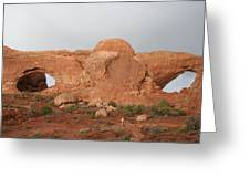 North And South Window Arches Np Greeting Card