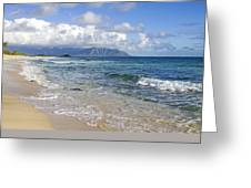 North Beach Kaneohe 7 Watermarked Greeting Card