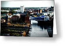 North Bridge Kingston Upon Hull Greeting Card by Anthony Bean