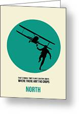North By Northwest Poster 1 Greeting Card by Naxart Studio
