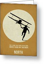 North By Northwest Poster Greeting Card by Naxart Studio