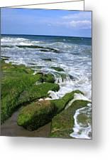 North Carolina Coastal Rocks Greeting Card
