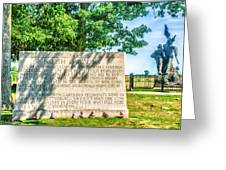 North Carolina Memorial Gettysburg Battleground Greeting Card