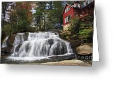 North Carolina Waterfall Greeting Card