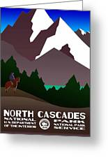 North Cascades National Park Vintage Poster Greeting Card