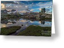 North Cascades Tarn Reflection Greeting Card