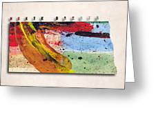 North Dakota Map Art - Painted Map Of North Dakota Greeting Card