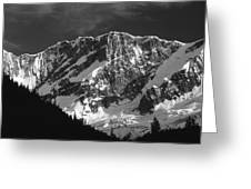 1m2616-bw-north Face Mt. Bonney  Greeting Card