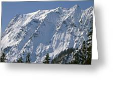 1m4443-north Face Of Big Four Mountain Greeting Card