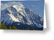 1m3549-north Face Of Mt. Temple Greeting Card