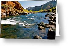 North Fork Of The Shoshone River Greeting Card