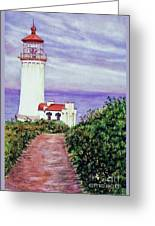 North Head Light House On The Washington Coast Greeting Card