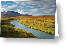 North Klondike River Flowing Greeting Card