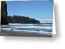 North Kona Coastline 1 Greeting Card